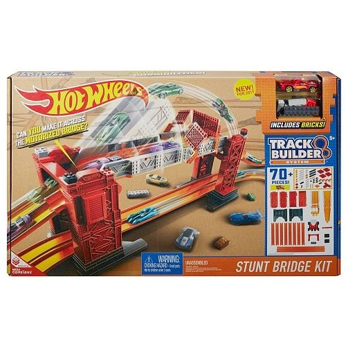 Mattel Hot Wheels Track Builder Stunt Bridge Kit for Boys, Above 5 Years - DWW97