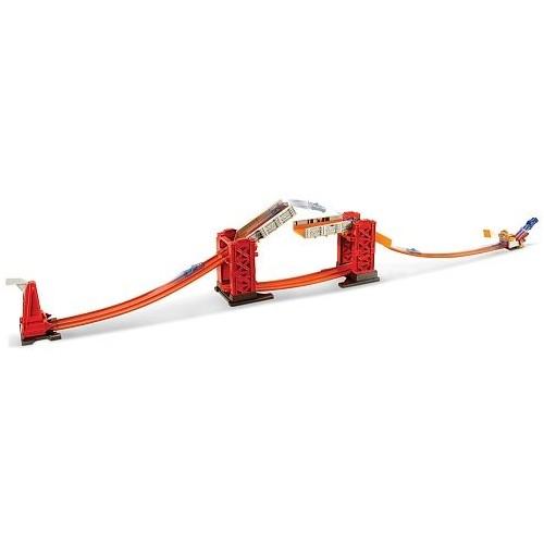 Mattel Hot Wheels Track Builder Stunt Bridge Kit for Boys, Above 5 Years - DWW97