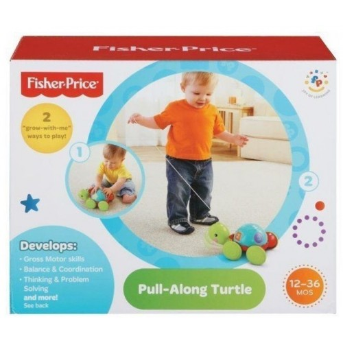 Fisher Price Pull Along Turtle , Green ,Y8652