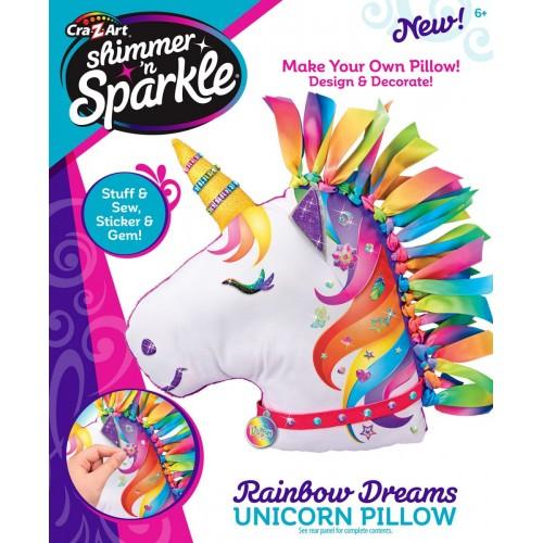 Cra-Z-Art Shimmer N Sparkle Make Your Own Unicorn Pillow for Girls - 17687