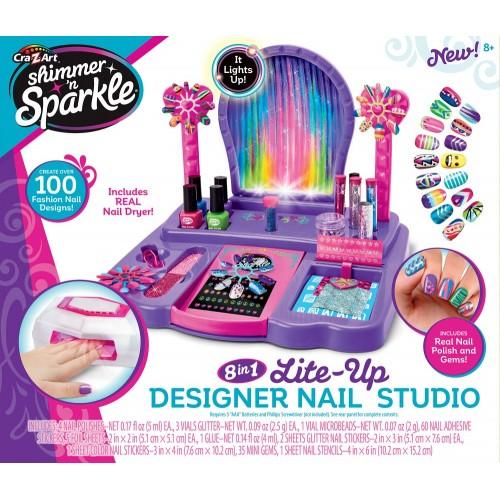 Shimmer N Sparkle 8-In-1 Lite Up Nail Design Studio - Purple, 17122_2