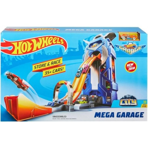 Hot Wheels City Mega Garage Connectable Play Set (FTB68)