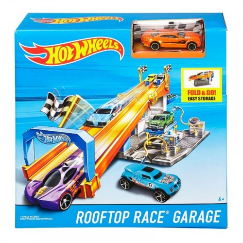 Hot Wheels Rooftop Race Garage Playset - 4 Years & Above