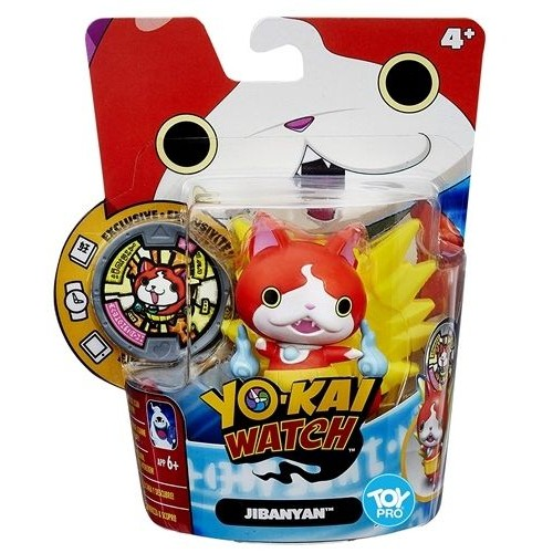 Hasbro Yokai Watch Medal Moments Figure with Medal - Jibanyan, B5937