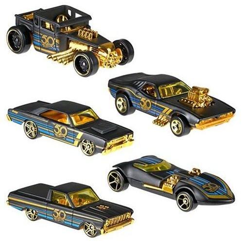 Hot Wheels 50th Anniversary Black & Gold(style May Vary)