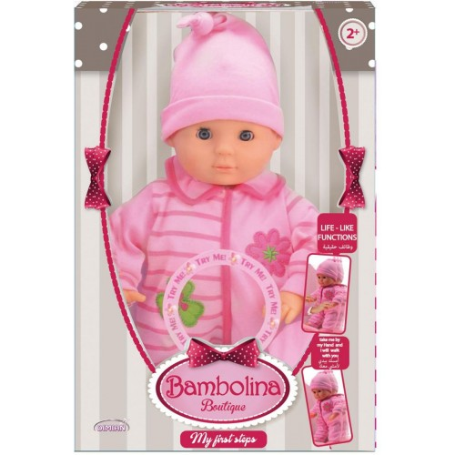 Bambolina 33cm Baby Training Walking doll (BD1377TT)