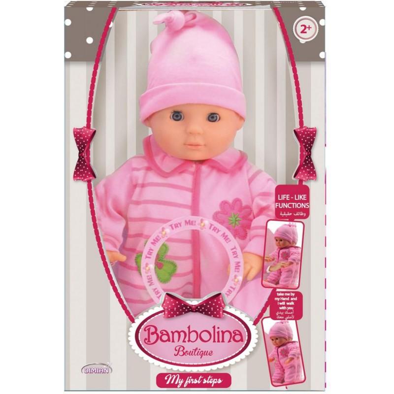 Bambolina 33cm Baby Training Walking doll (BD1377TT)
