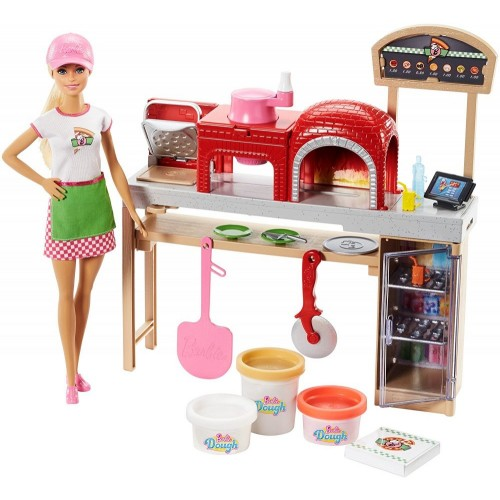 Barbie Pizza Chef Doll and Playset for Girls, 3 Years and Above - FHR09