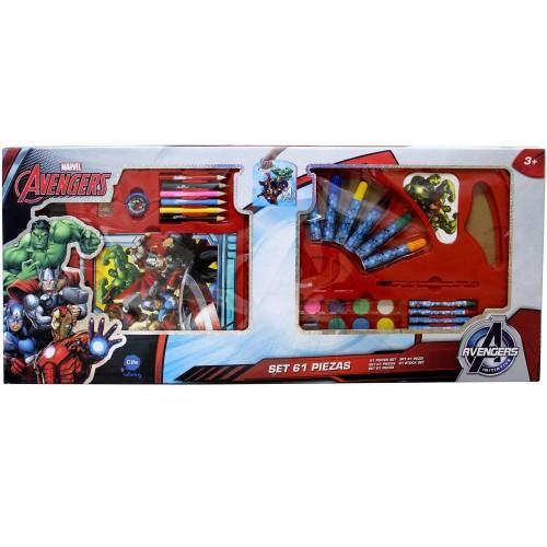 Disney Cife Coloring Holographic Set 61 Pieces Avengers EX40121