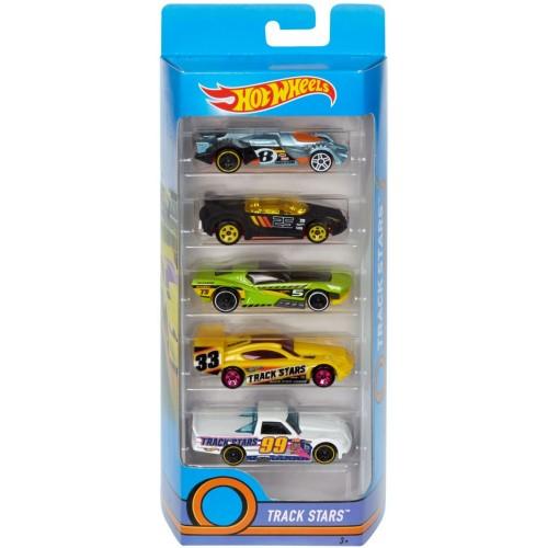 Hot Wheels Track Stars 5 Pack - Djg23_Dvg03