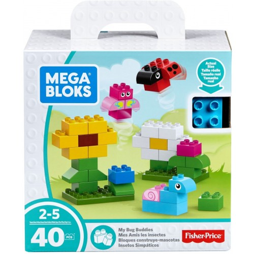 Mega Bloks My Bug Buddies, 40 Pcs, FFG29