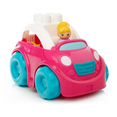 Mega Bloks Convertible Car Toys, Pink, DYT62