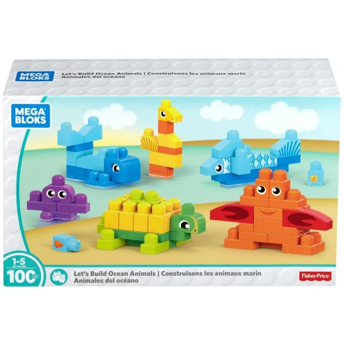 Mega Bloks Build Ocean Friends Kit, 100 Pcs, DXH42