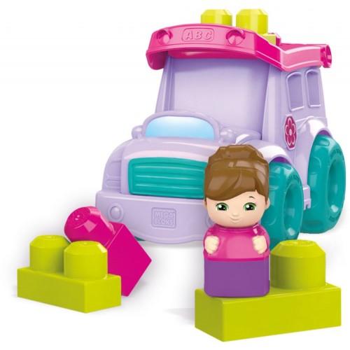 Mega Bloks School Bus Toys, Purple, DYT61