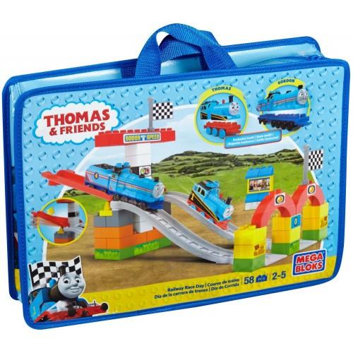 Mega Bloks Thomas Railway Race Day Toys, 58 Pcs, DPJ23