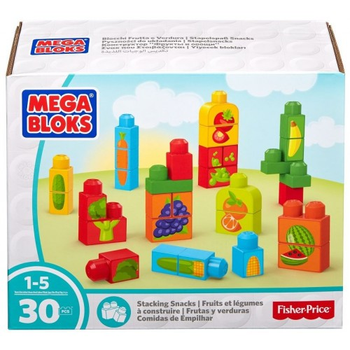 Mega Bloks Stacking Snacks Building Set, 30 Pcs, DPY42