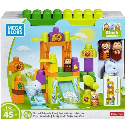 Mega Bloks Storytelling Safari Friends Zoo Building Set, FFG42