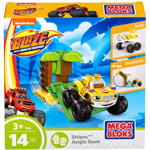 Mega Bloks Stripes Jungle Stunt, 14 Pcs, DXF23