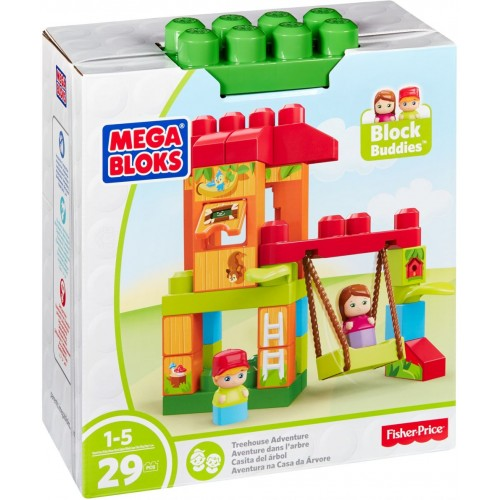 Mega Bloks Spin and Play Treehouse Toys, 29 Pcs, DXH37