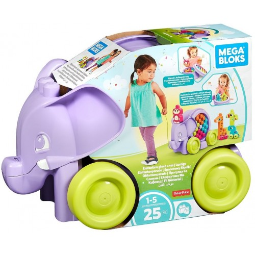 Mega Bloks Elephant Parade Building Set, 25 Piece, FFY14