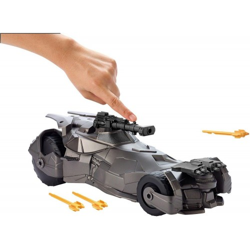 DC Justice League Cannon Blast Batmobile Vehicle In Open Tray