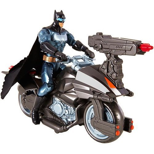 Justice League Batman Action Figure and Batcycle Vehicle Set - 4 Years & Above