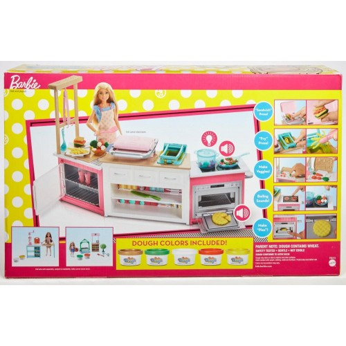 Barbie Doll and The Ultimate Kitchen Playset (FRH73)