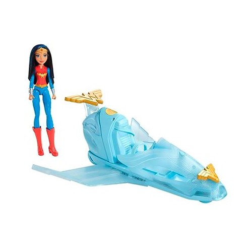 Mattel DC Super Hero Girls Wonder Woman and Invisible Jet DYN05 Doll