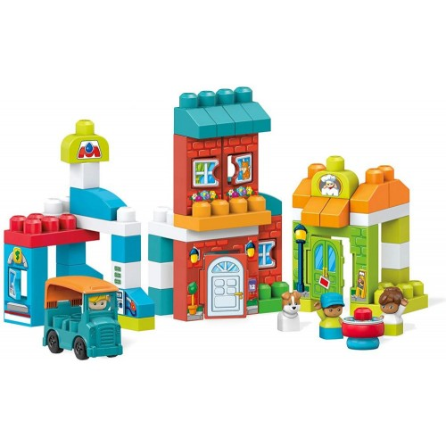 Mega Bloks Block Buddies Main Street Friends Playset