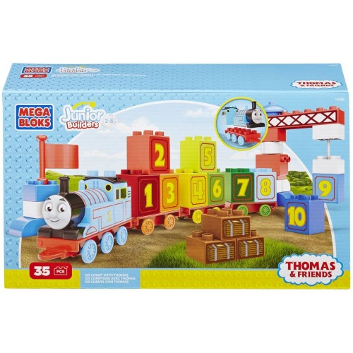 Mega Bloks Junior Builders Thomas and Friends 1-2-3 Count Set 35 Pieces