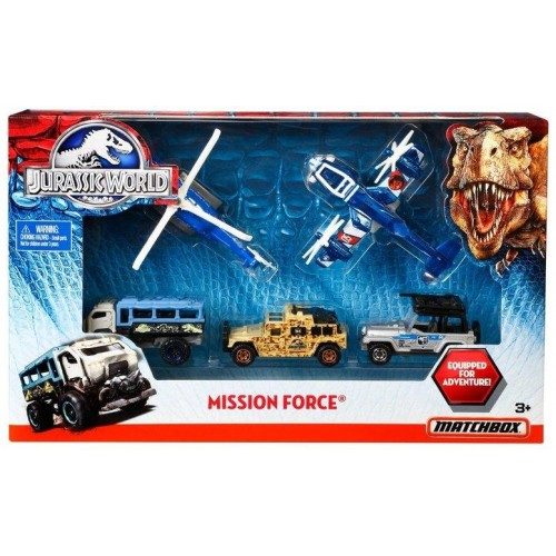 Matchboxl Jurassic World Mission Force Vehicle Pack