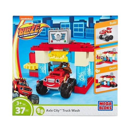 Mega Bloks Blaze And The Monster Machines Axle City Car Wash Playset