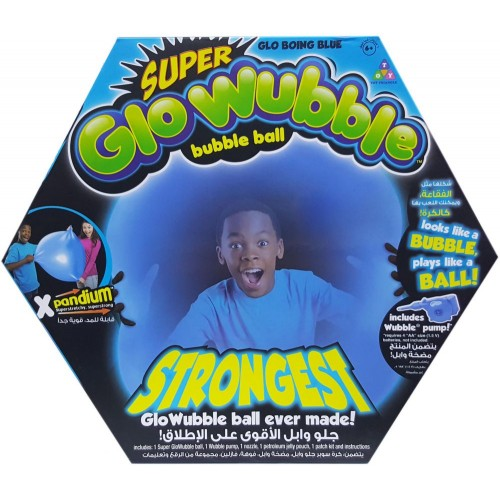 Wubble Bubble The Amazing Glo Wubble Bubble Ball Blue With Pump