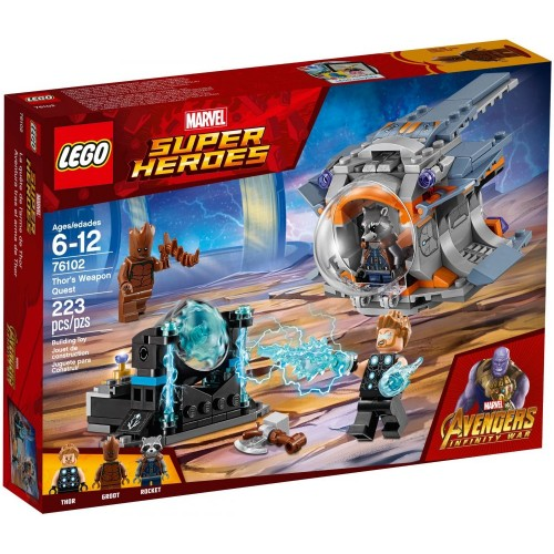Lego 76102 Marvel Super Heroes Thor's Weapon Quest Building Kit