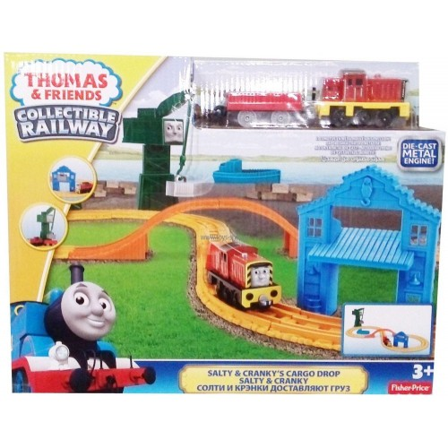 Fisher-price Thomas & Friends Collectible Railway Salty & Cranky's Cargo Drop [BHR95]