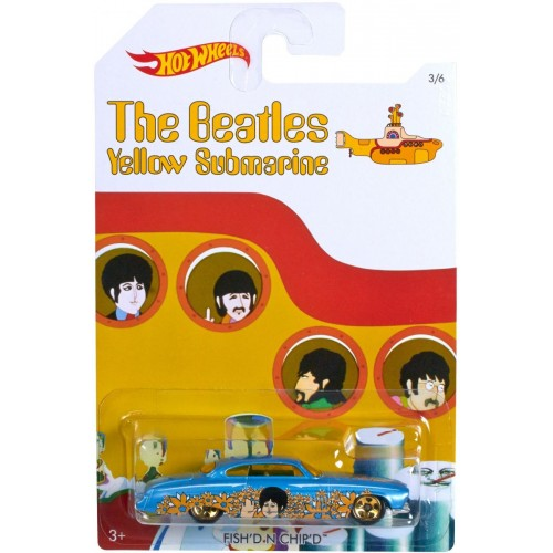 Hot Wheels Beatles Yellow Submarine Fish'd and Chip'd