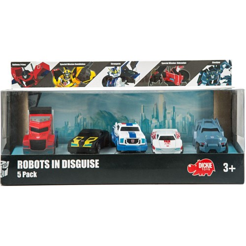 Dickie Toys Robots in Disguise 5 Pack, 3 years