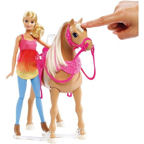 Barbie Doll With Dancing Horse,Pink,DMC30