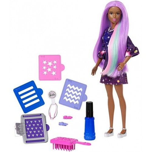 Barbie Color and Style Hair Doll for Girls, 3 Years and Above - FHX00