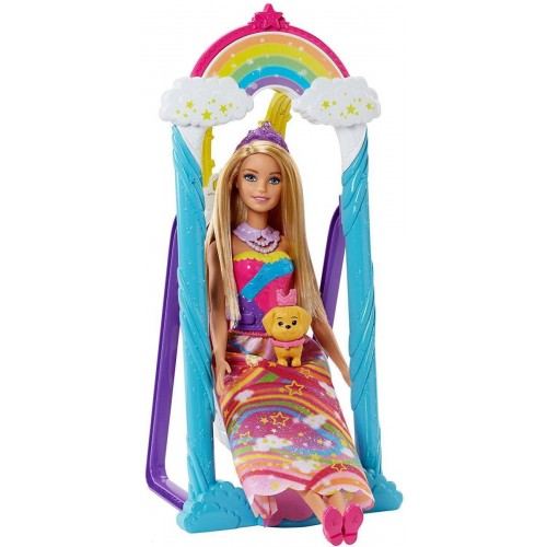 Barbie Princess Swing Dreamtopia Playset for Girls, 3 Years and Above - FJD06
