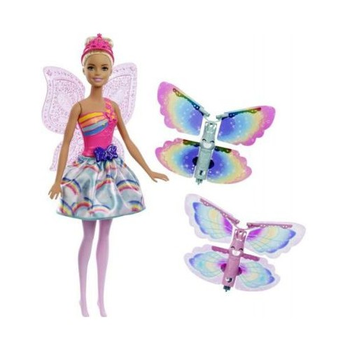 Barbie Dreamtopia Rainbow Cove Flying Wings Fairy Doll for Girls, 3 Years and Above - FRB08