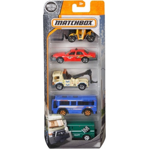 Matchbox Five Car Set for Boys - C1817_DWR81