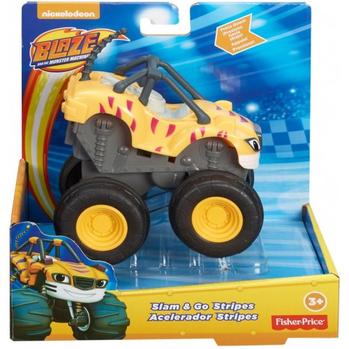 Fisher Price Stripes Slam And Go ,Cars For Boys ,3 Years And Above