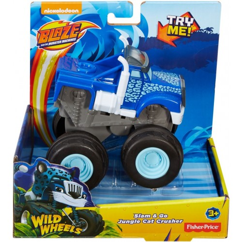 Fisher Price Blz Slam-Go Jungle Crushr ,Cars For Boys ,3 Years And Above