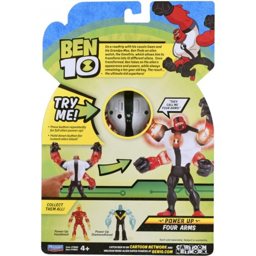 Ben10 Deluxe figures Power up Four Arms 76600C