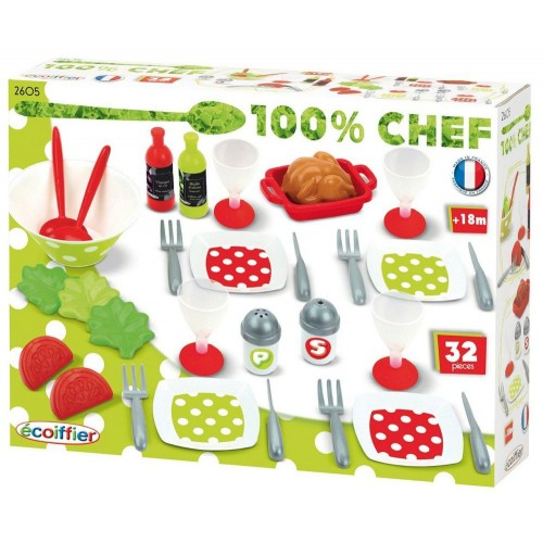 Ecoiffier 2605 Freshness Menu Set 32 Pieces