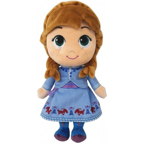 DISNEY PLUSH - FROZEN STYLIZED ANNA IN WINTER COSTUME, 10Inch