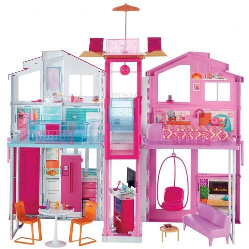 Barbie Three-Storey Townhouse Playset for Girls, 3 Years and Above - DLY32