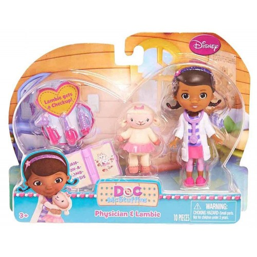 Doc Mcstuffin 90805-DOC Doll with Friend Emergency Doctor Dash Play Set, Multi Color