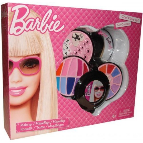 Barbie 5511L 4 Decks Round Cosmetic Case, Multi Color